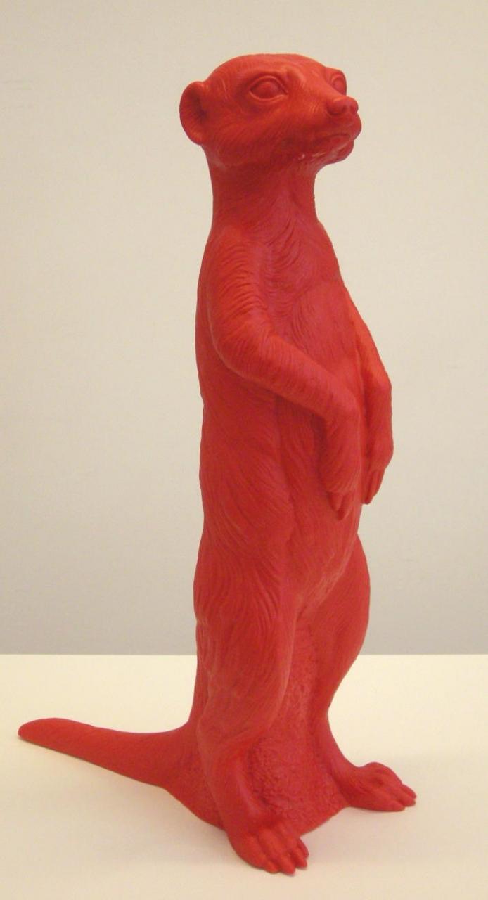 Erdmännchen - rot, signiert