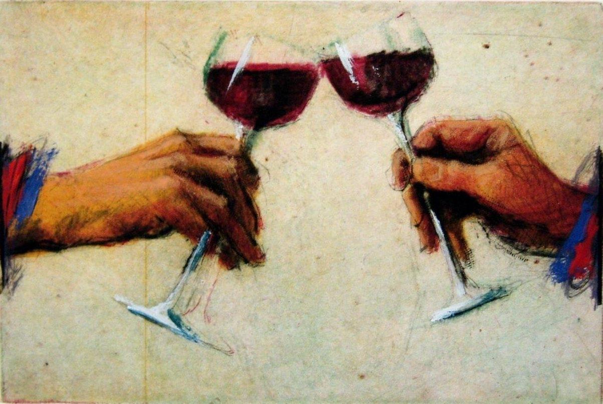 Rotwein Anstoßer