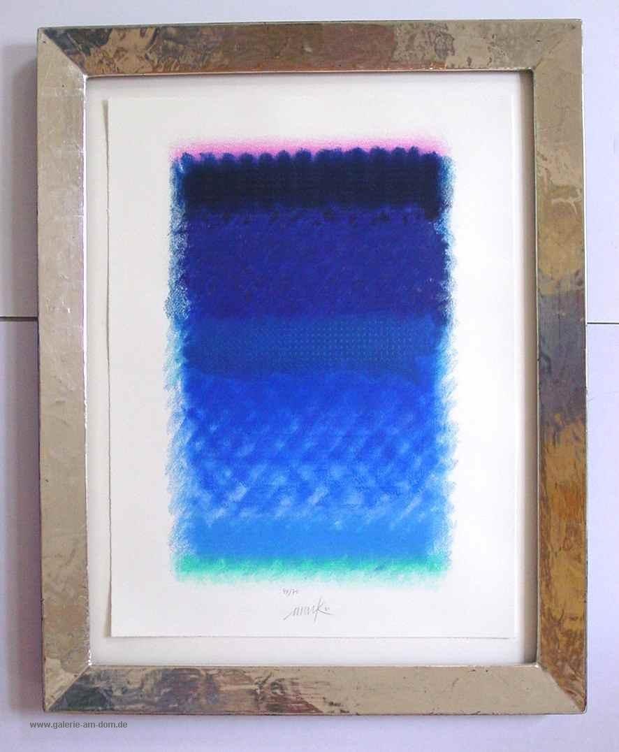 Chromatik rosa/violett-Blau, gerahmt