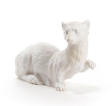 Hermelin - weiß, signiert
