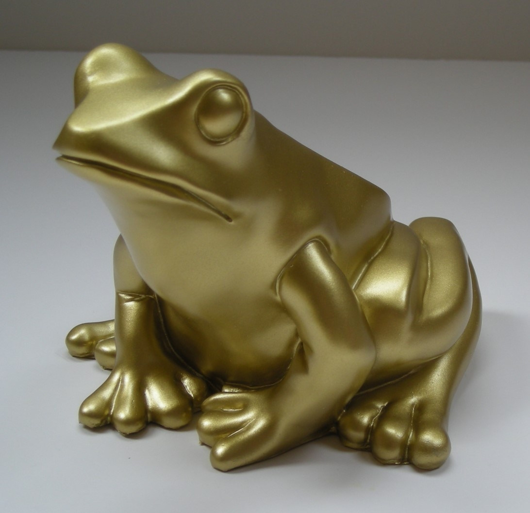 Froschkönig - gold, signiert