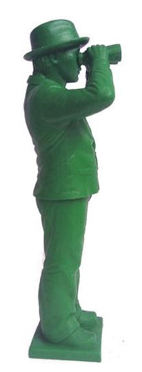 Weltanschauungsmodell IV-Anmerkung zu Beuys - grün, signiert