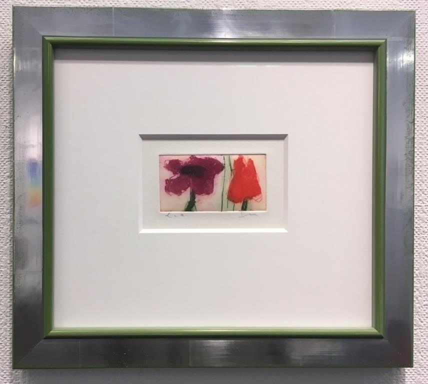 Anemone/Tulpe gerahmt