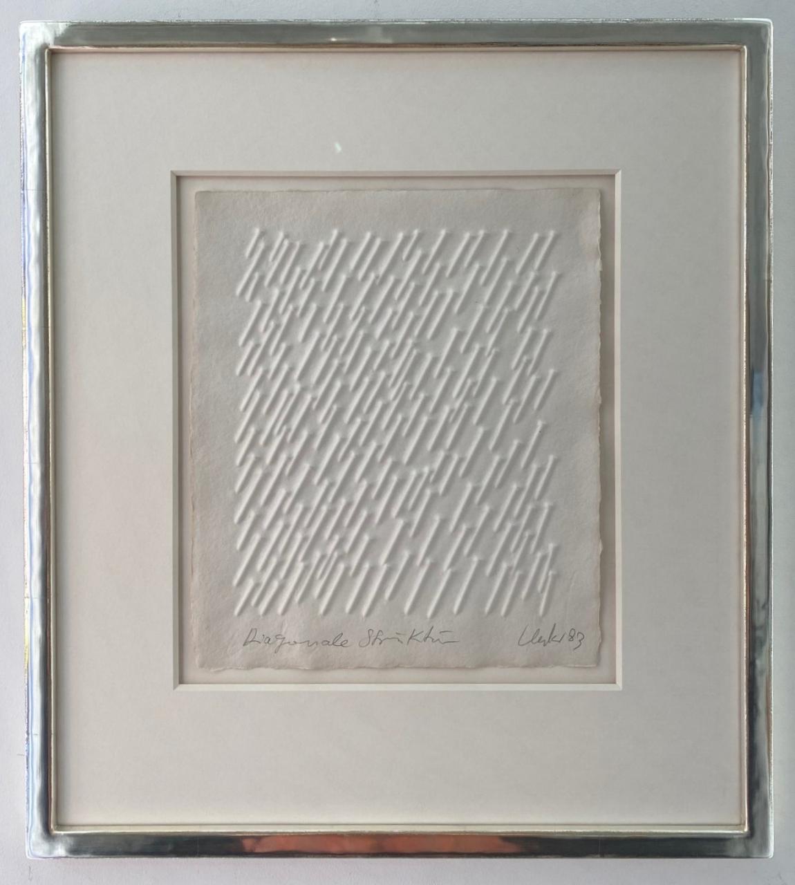 Diagonale Struktur (1983), gerahmt