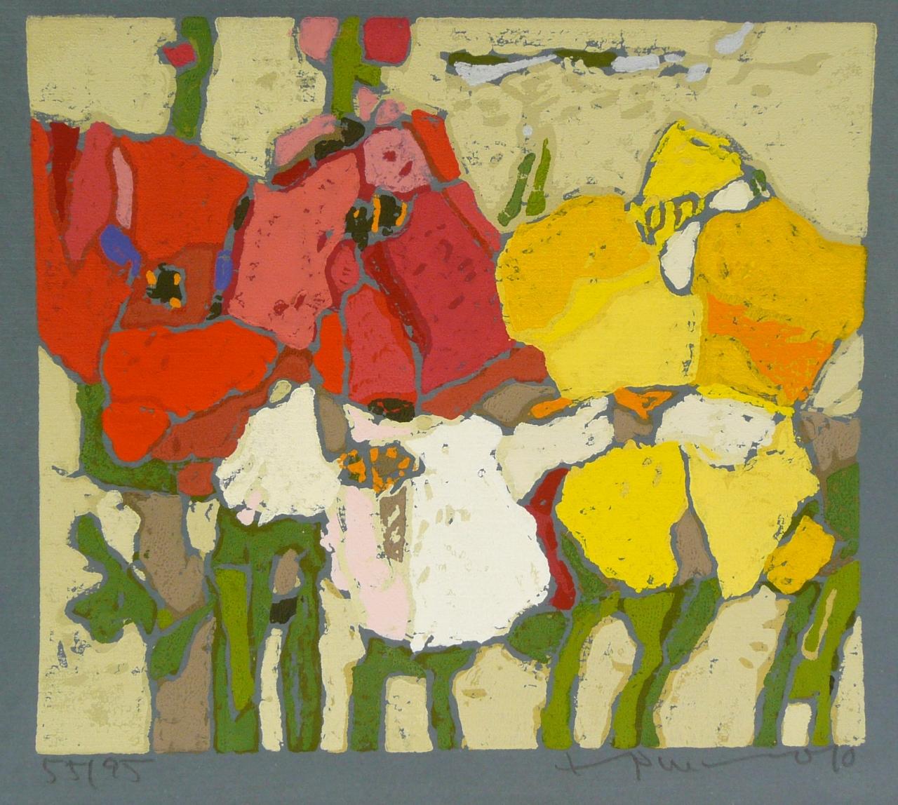 Rosen rot, weiß, gelb