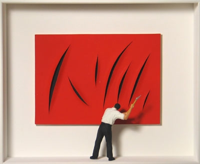 Homage to Lucio Fontana
