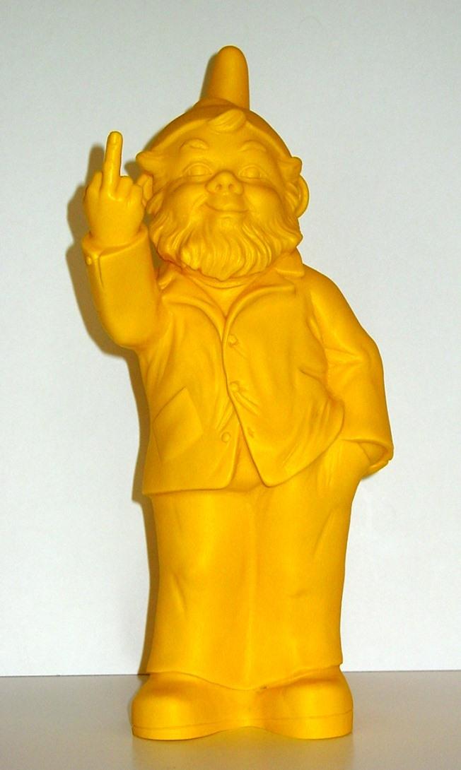 Sponti-Zwerg - gelb, signiert