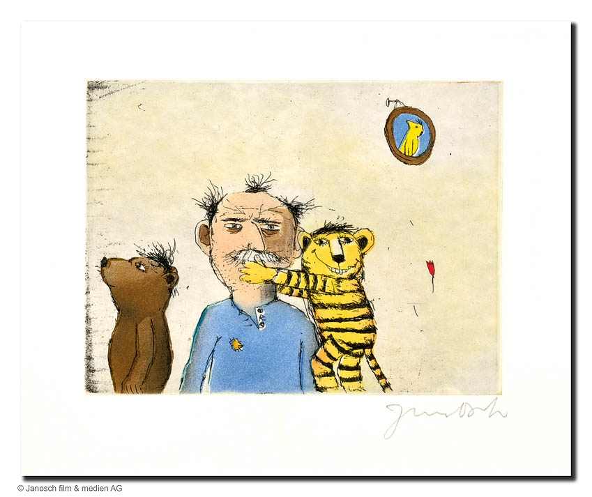 Der Tiger umarmt Janosch