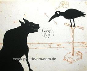 Chien et Corbeau