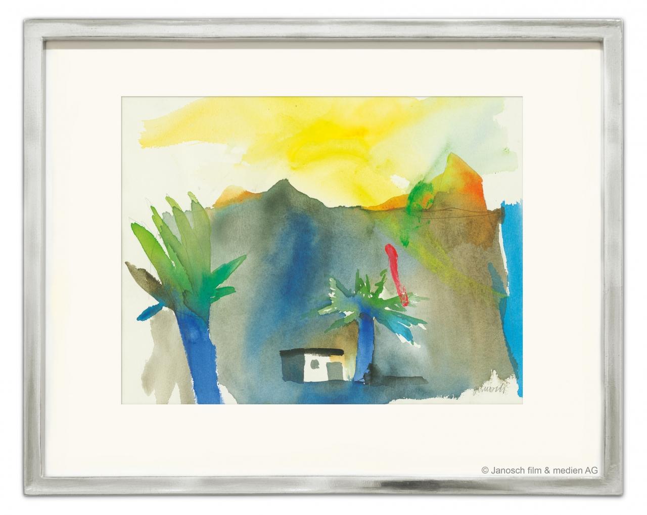 Vulkanlandschaft mit zwei Palmen (2001)