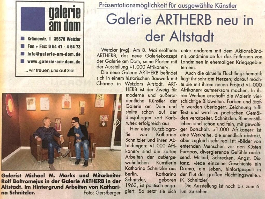 Sonntag-Morgenmagazin-Galerie-Artherb-neu-in-der-Altstadt-24-5-2015
