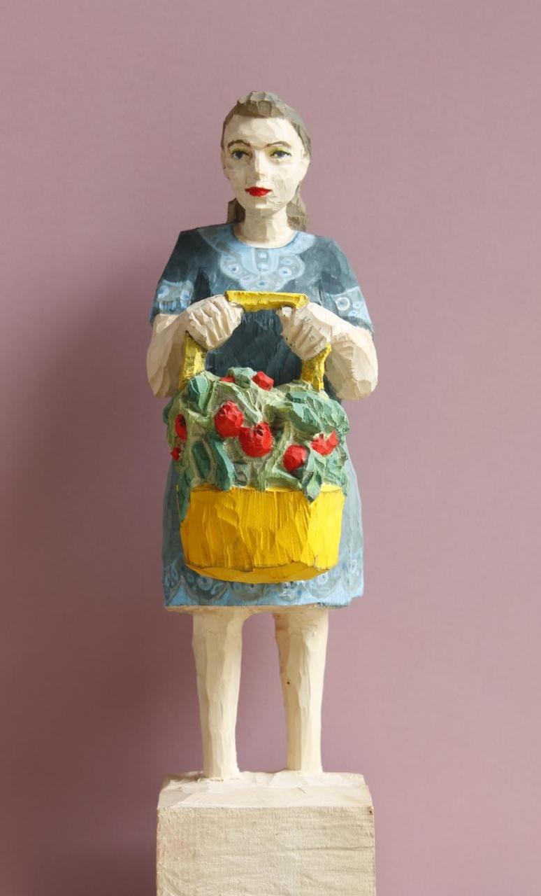 Edeka Frau (824) mit Tomatenpflanzen