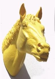 Pferdekopf - gelb, signiert