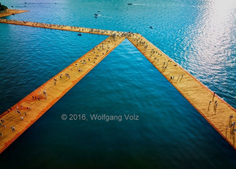 ohne Titel, 2016 (The Floating Piers) - WV 01