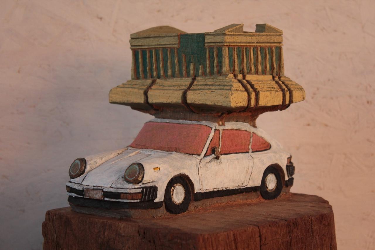 Porsche mit Akropolis