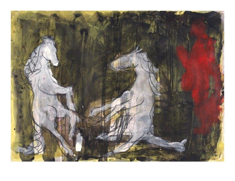 Aufsteigende Pferde