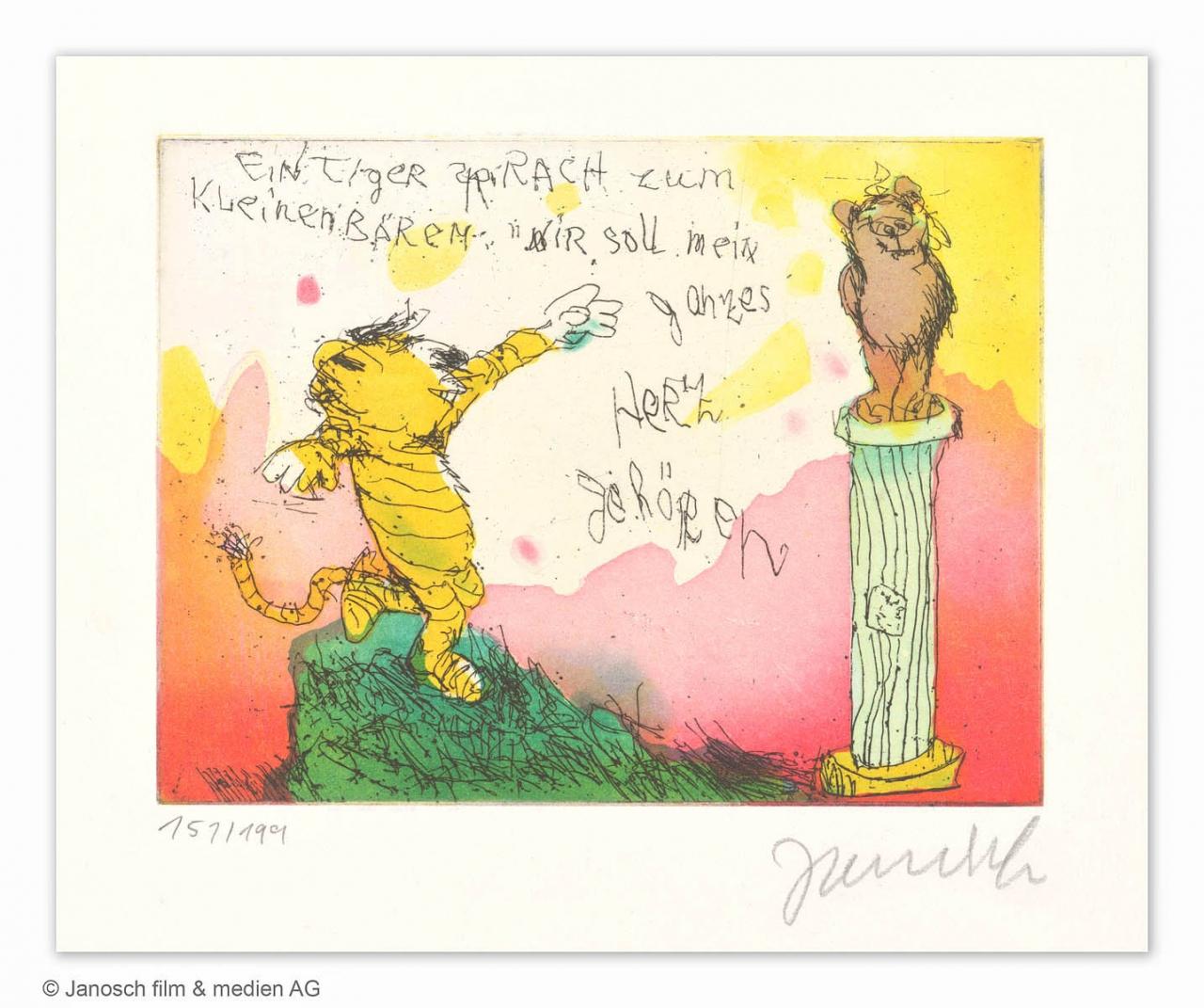 Ein Tiger sprach zum kleinen Bären, Dir soll mein ganzes Herz gehören