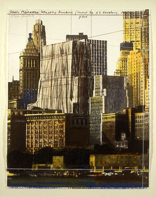 Lower Manhattan, Wrapped Building, 1984