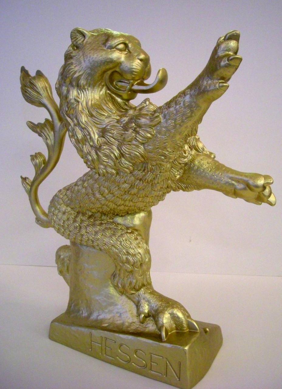 Hessischer Löwe - gold
