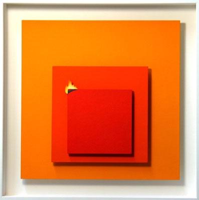 Homage to Josef Albers - Das brennende Quadrat