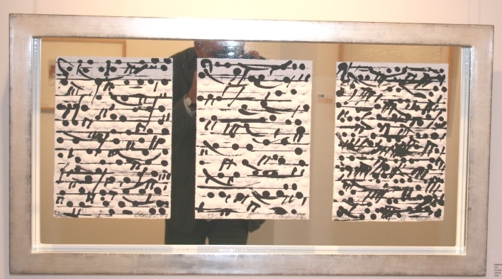 Notation im Vergolderrahmen