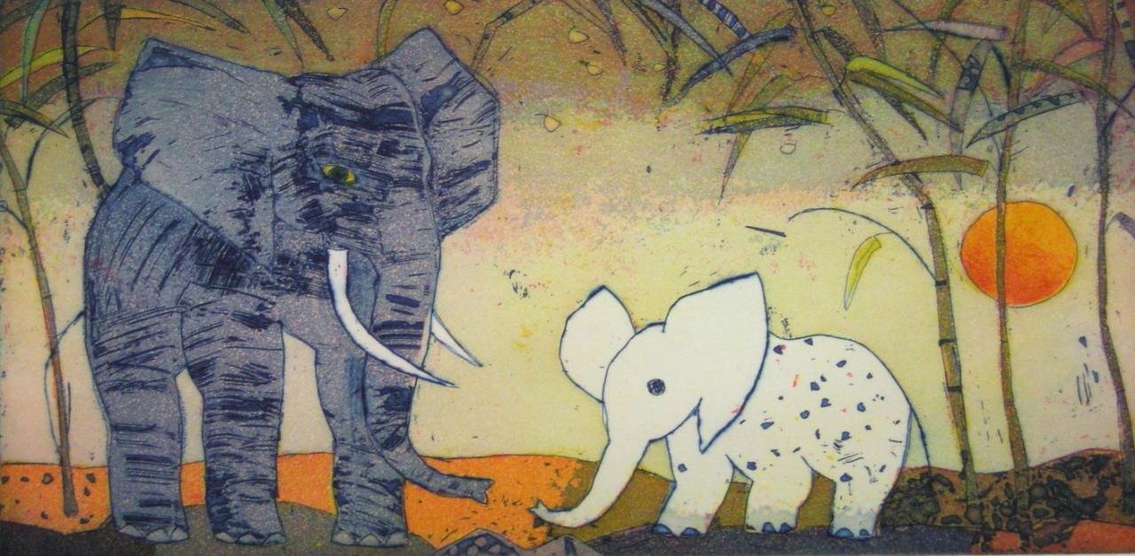 Elefantenbegegnung