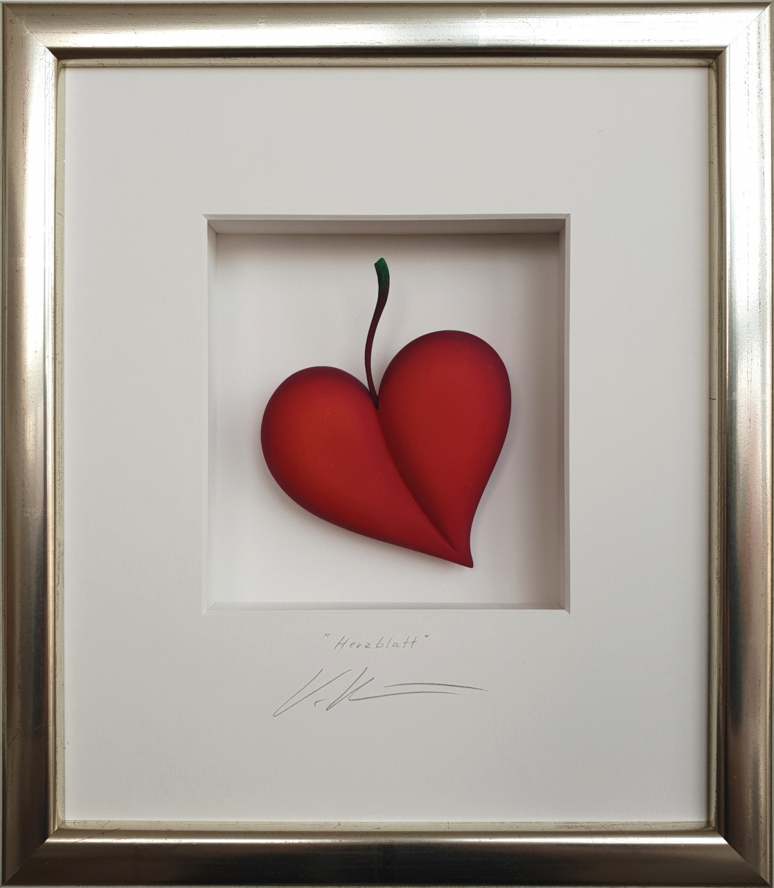 Herzblatt - rot