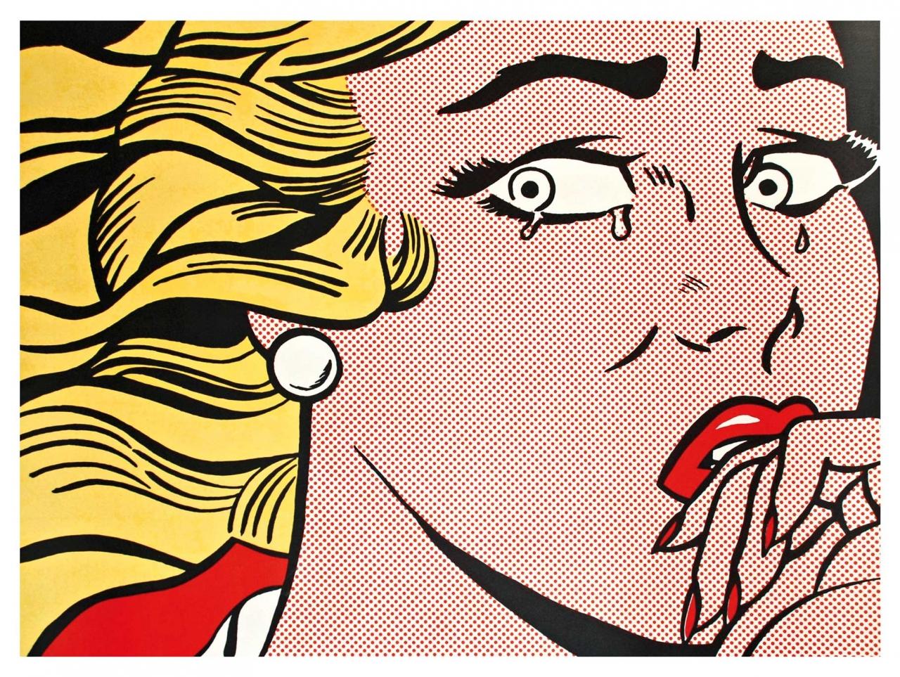 Roy Lichtenstein: Crying Girl (Mailer)