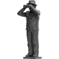 Weltanschauungsmodell IV-Anmerkung zu Beuys - steingrau