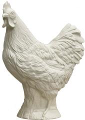 Huhn - weiß, signiert