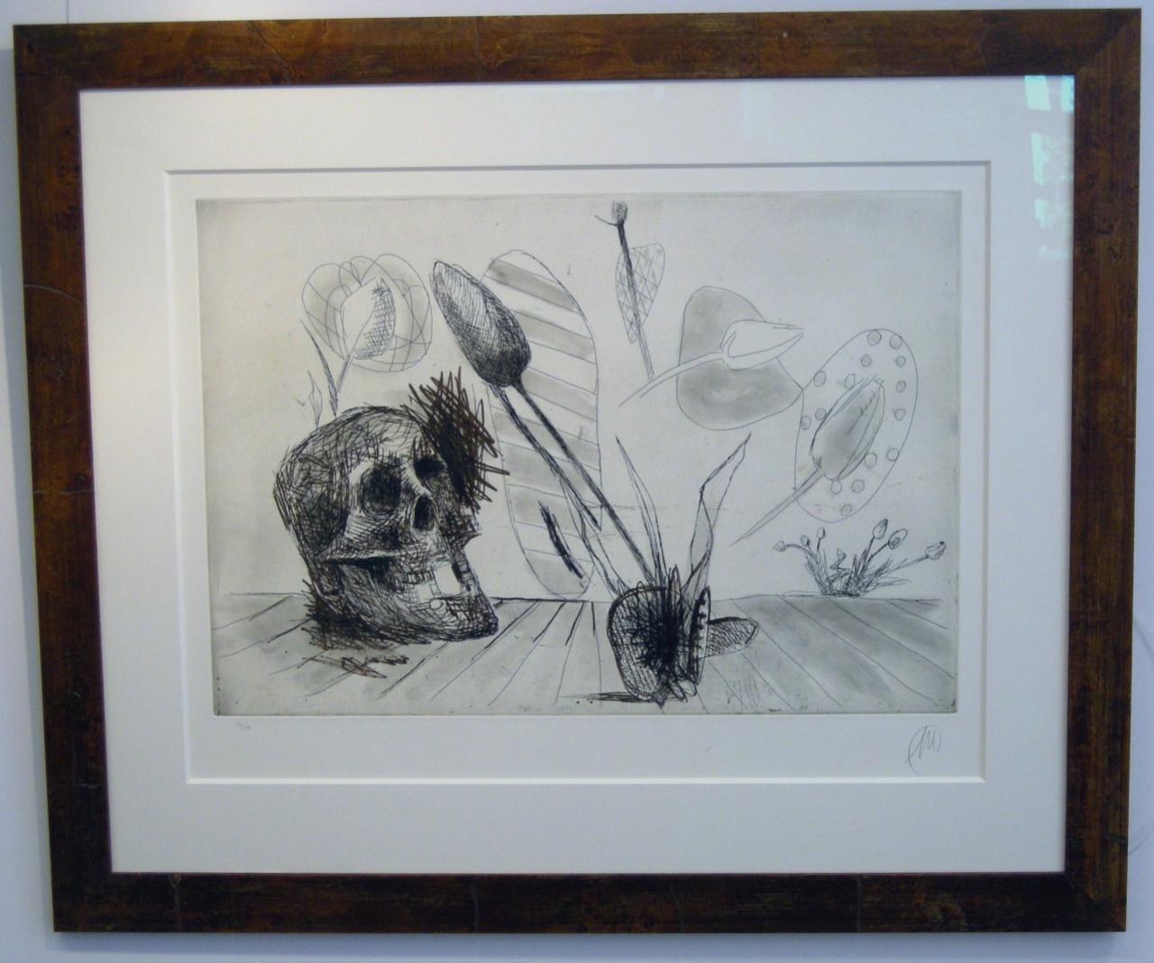 Spanische Serie Skull, gerahmt