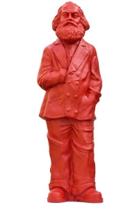 Karl Marx - signalrot, signiert
