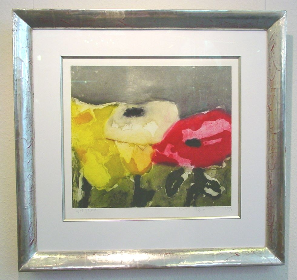 Rosen rot/gelb gerahmt