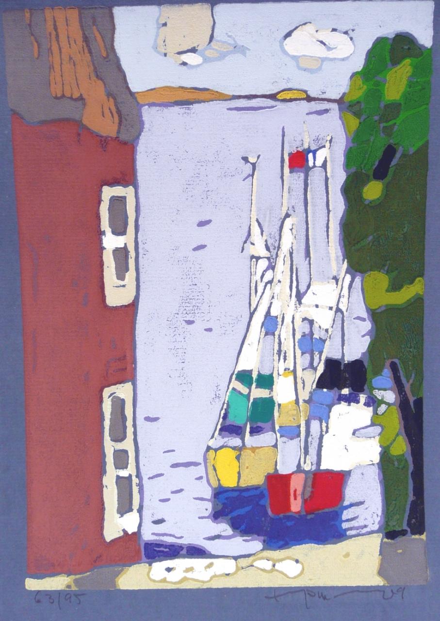 Schlei mit Booten bei Arnis