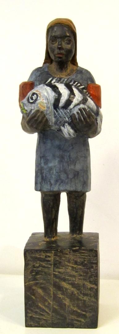 Edeka-Bronze mit Fisch AP