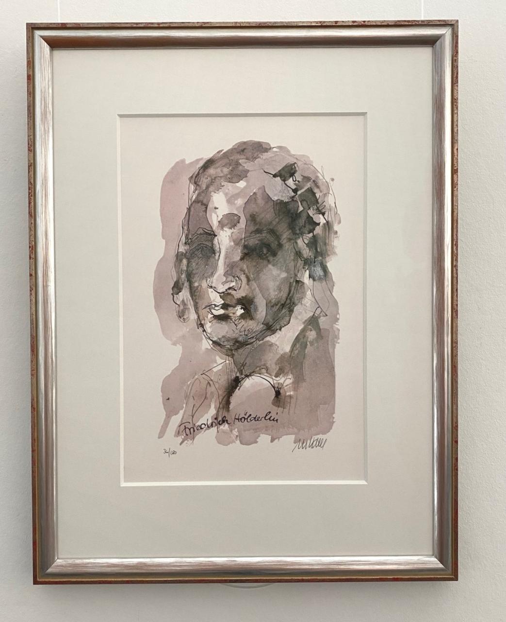 Porträt - Friedrich Hölderlin, gerahmt