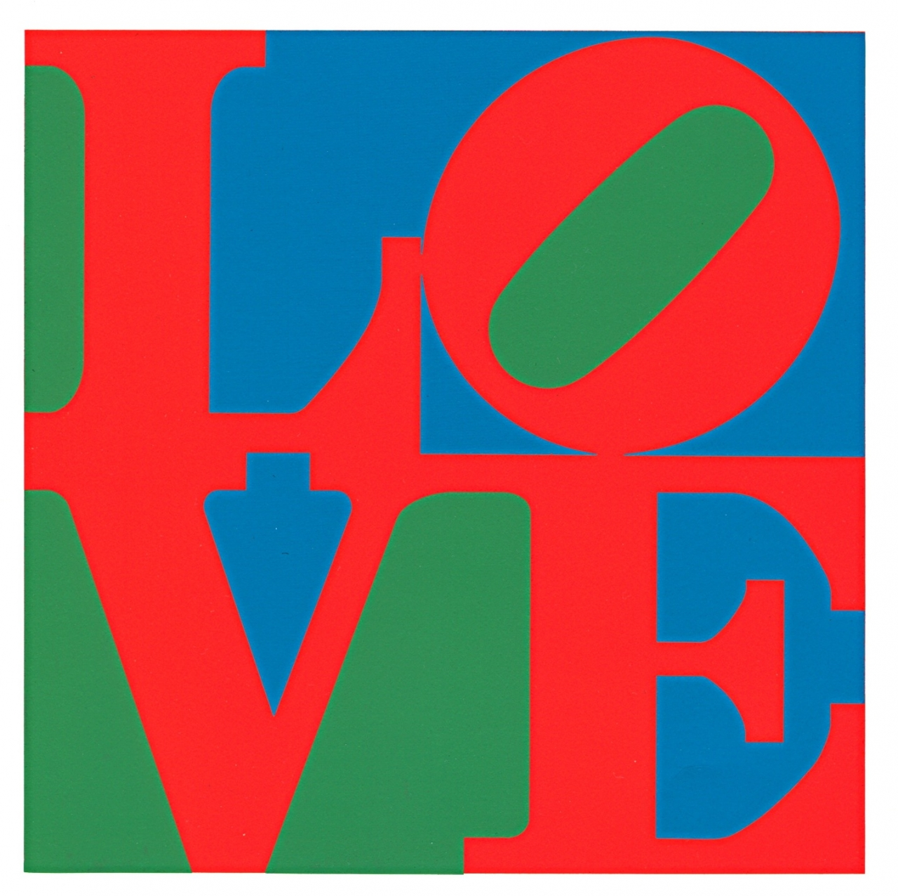 Robert Indiana: LOVE (red green blue)