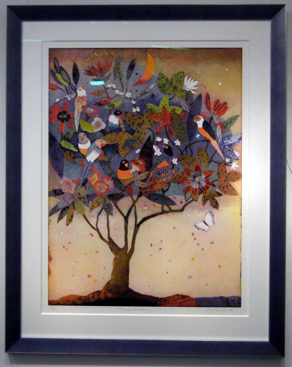 Papageienbaum, gerahmt