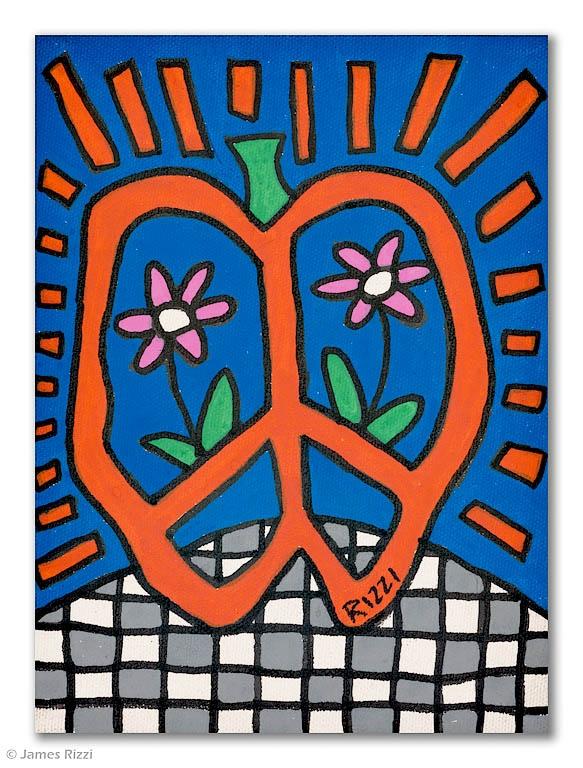 Peace apple