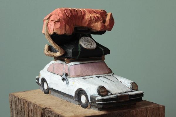Porsche mit Hummertelefon