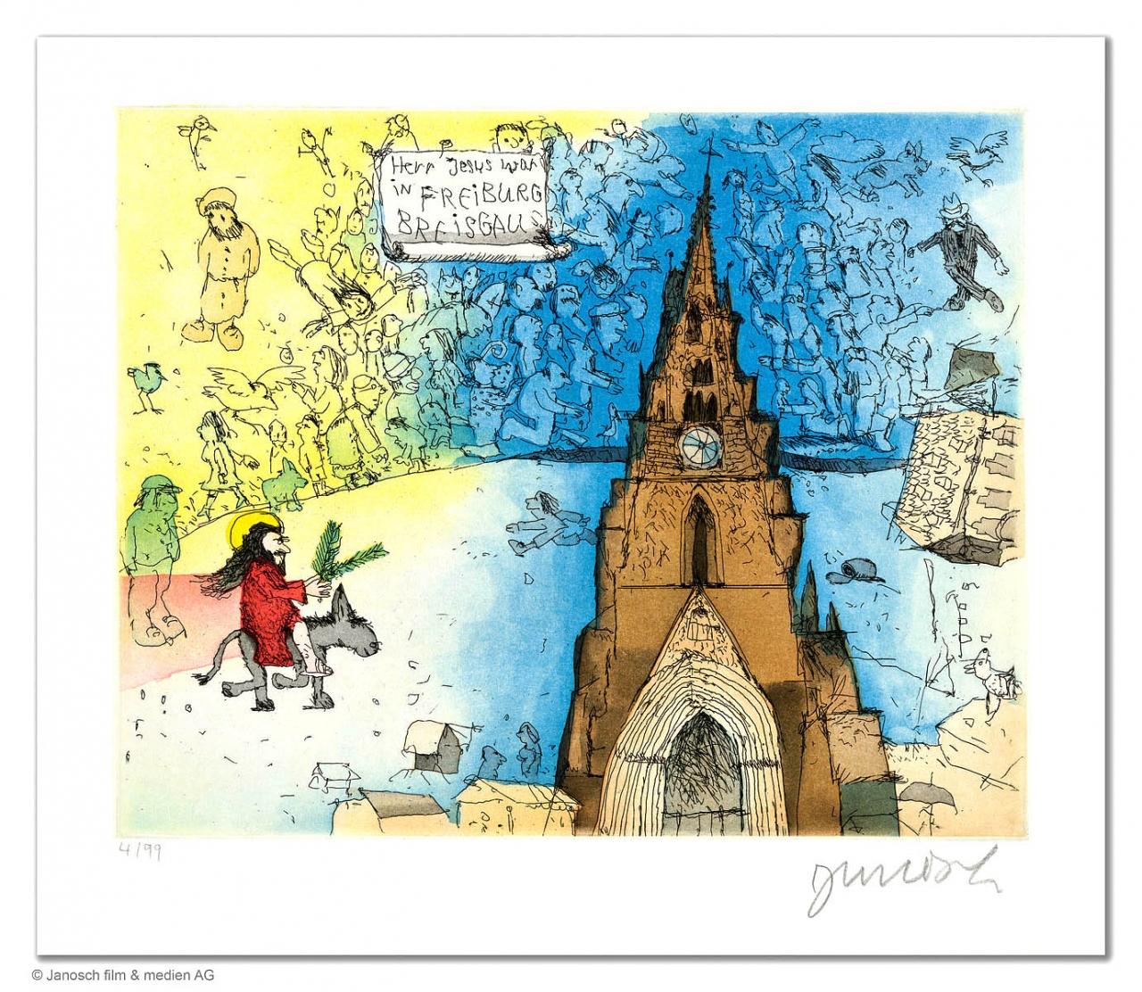 Herr Jesus war in Freiburg Breisgau