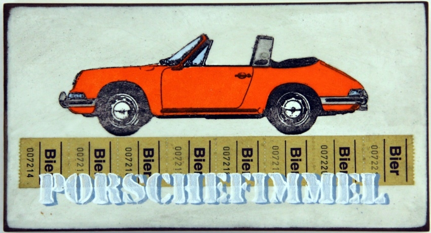Porschefimmel Orange nach Links