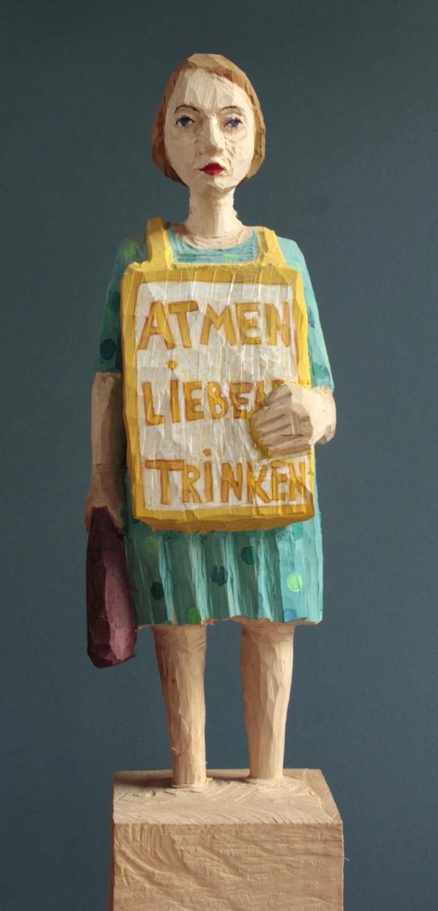Edeka Frau (917) atmen-lieben-trinken
