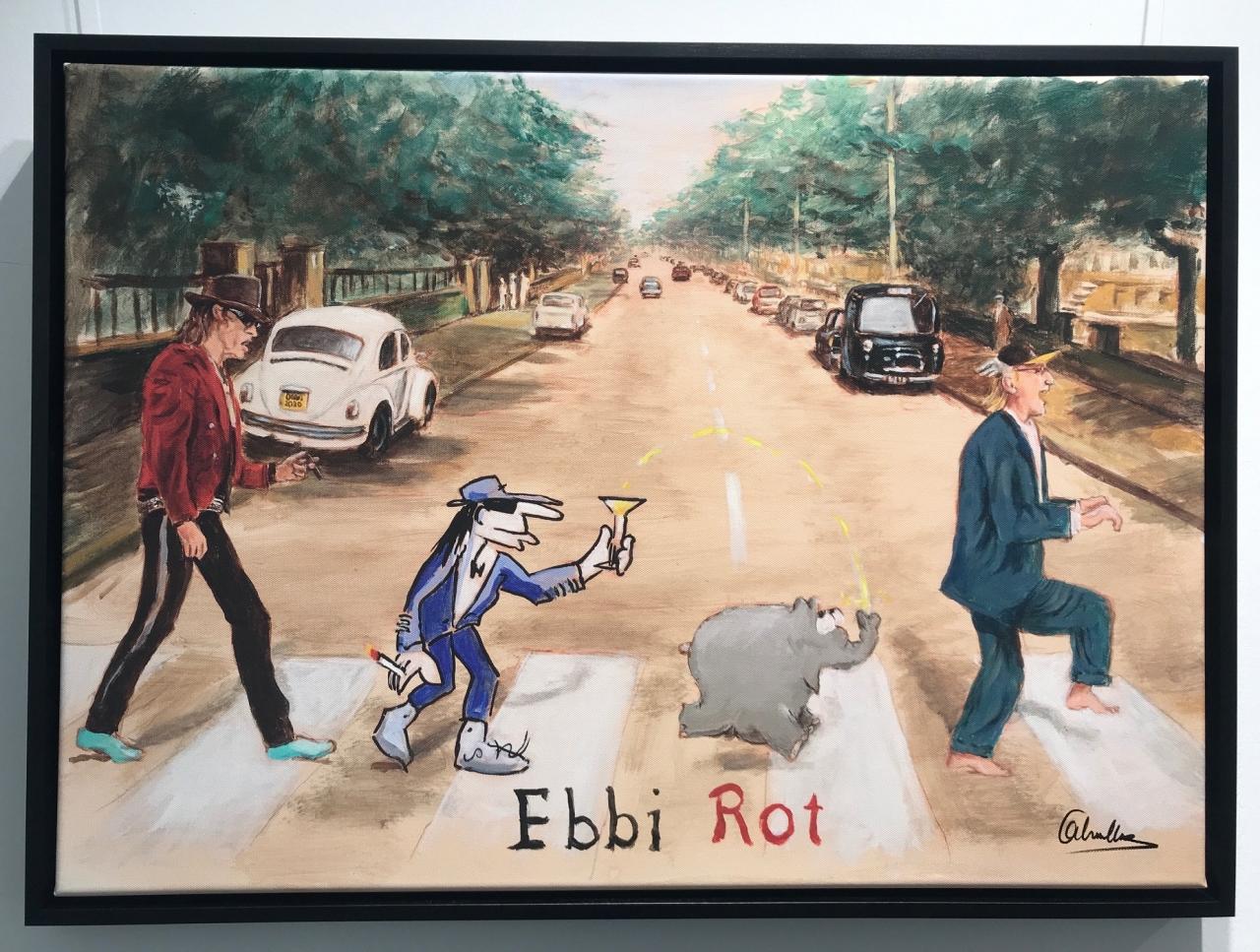Ebbi Rot - Grafik auf LW (mit Udo Lindenberg) - 2020, gerahmt