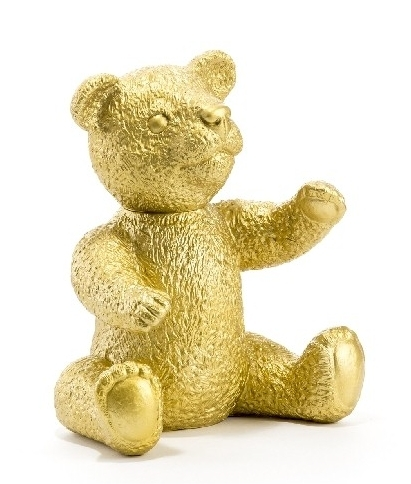 Teddy - gold, signiert