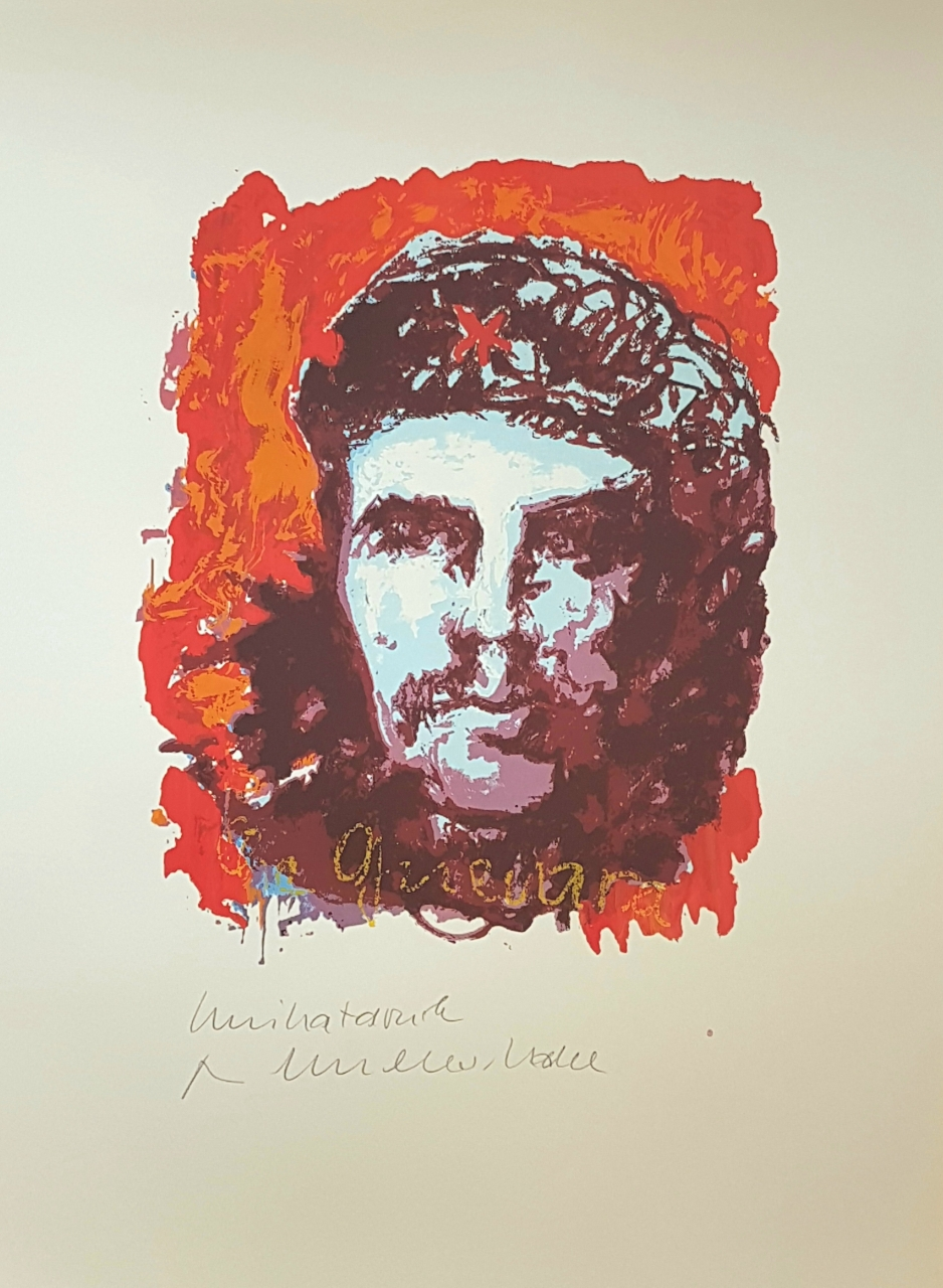 Che Guevara - Unikatdruck - No. 2 (Rot-Orange)