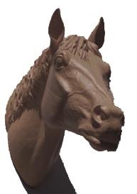 Pferdekopf - bronze, signiert
