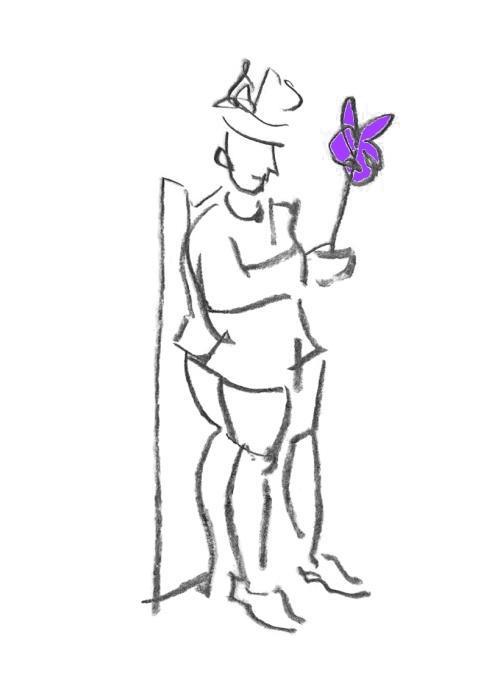 Kompliment, violett