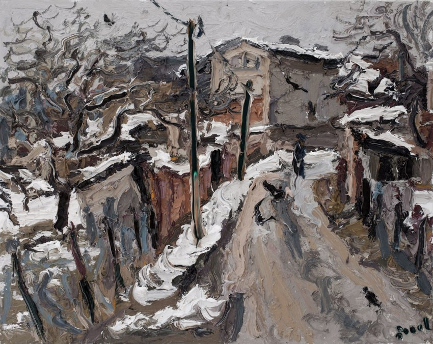 Dorfstraße in Ranies