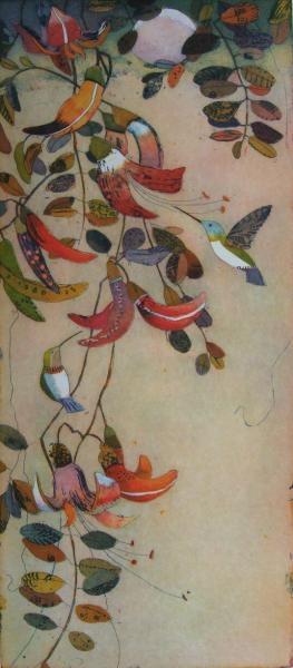 Naschende Kolibris